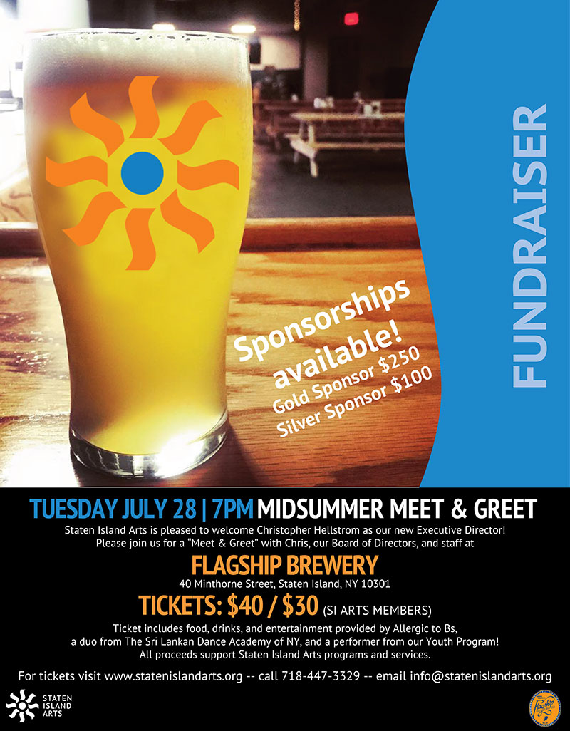 Staten Island Arts Meet & Greet at Flagship Brewery July 2015