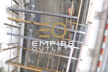 Drone Footage of the Empire Outlets Construction