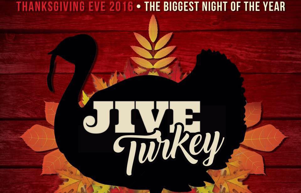 Artwork for the the Thanksgiving Eve event at Play Sports Bar
