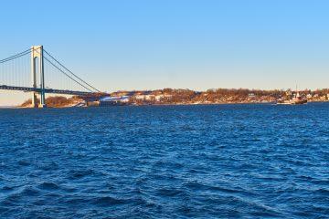 The Verrazano Bridge and New York Harbor